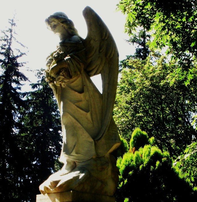 At the Nearby Cemetery - the Angel